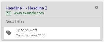 Rozszerzenie promocji Google